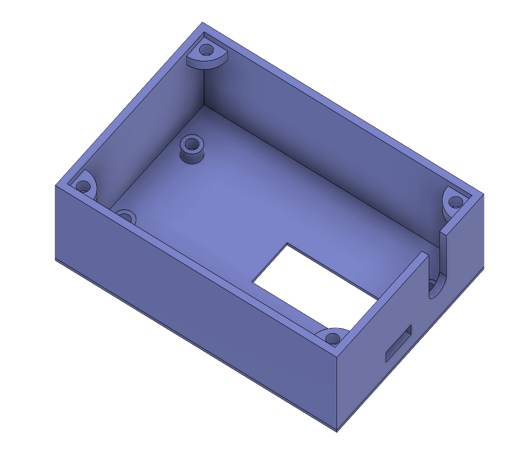 3D model of the enclosure's base
