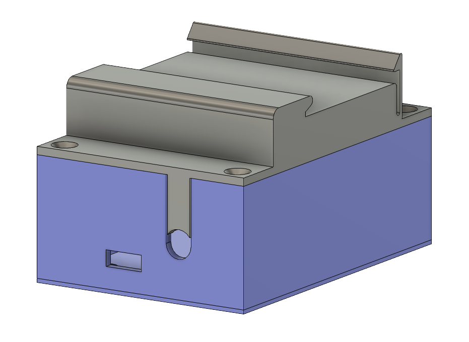 3D model of the DIN-rail mount