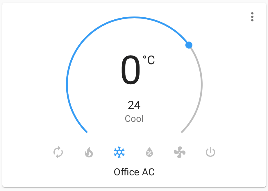 Home Assistant's thermostat control UI