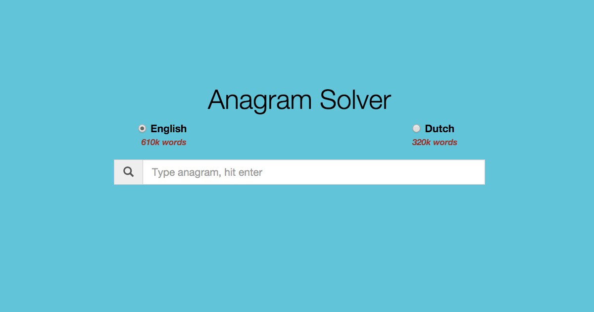 Building a serverless anagram solver with AWS (DynamoDB