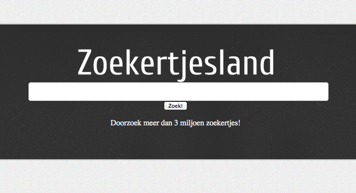 The homepage of Zoekertjesland
