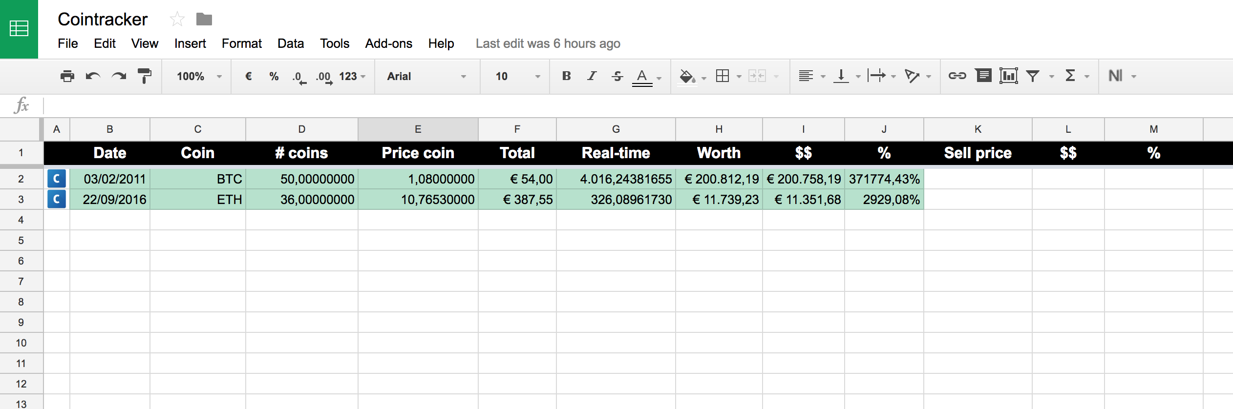 cryptocurrency accounting spreadsheet