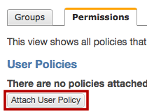 Attach policy to IAM user